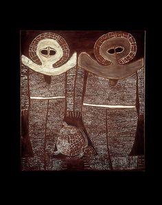painting of two wandjina spirits