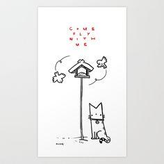 Come fly with me Art Print by Bartosz Ostrowski - $16.00