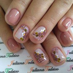 French Nail Designs, Colorful Nail Designs, Nail Art Designs, Gelish Nails, Red Nails, Swag Nails, Short Nail Manicure, Gel Nail Art, Sunflower Nail Art