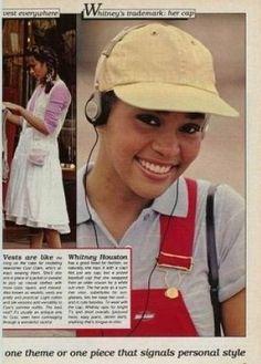 Whitney Houston Modeling - 1984