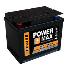 Leisure Battery for your boat or motorhome. The range of Powermax flooded leisure batteries are designed for cyclic duties.