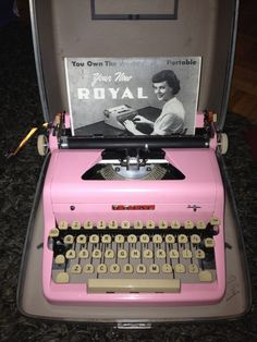 """Perfectly pink vintage typewriter"""