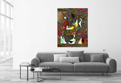 Using Brass Glass Panel Painting is a pattern in this artist's signature style: https://www.talariagallery.com/art/animal-s-farm.html?___SID=U #talariagallery #artforsale #originalart