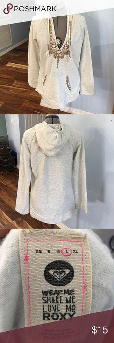 Roxy hoodie sweatshirt Great condition. No tears or stains Roxy Tops Sweatshirts & Hoodies