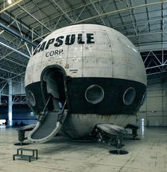 Capsule Corp by Steven Cormann on Behance  found via Le Container  More concept art here.