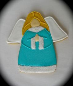 Have A Cookie!: Little Angel Angel Cookies, Cookie Designs, Christmas Decorations, Christmas Ideas, Cookie Decorating, Christmas Cookies, Cookies Et Biscuits, Angels, Decorated Cookies