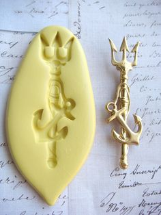 NEPTUNE'S SPEAR  Flexible Silicone Mold  Push Mold by Molds. , via Etsy.