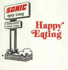 Sonic Drive-In logo Sonic Drive In, Fast Food Logos, Logo Food, Retro Advertising, Vintage Advertisements, Vintage Logos, Vintage Ads, Vintage Restaurant, Fast Food Restaurant