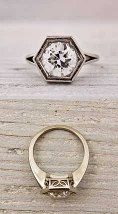 Vintage European Cut Art Deco Ring