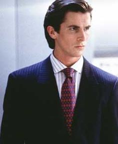 American Psycho. Patrick Bateman. A seriously disturbed individual. You should see his business card.