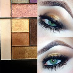 Bronze & gold smokey eyes using Too Faced - the return of the sexy palette  @makeupartistdani