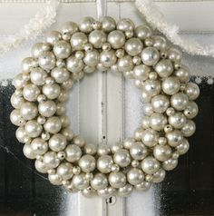 white ornament wreath