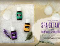 Young Living DIY Oil-Infused Shower Bombs
