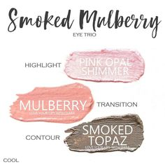 Smoked Mulberry Eye Trio uses three SeneGence ShadowSense : Pink Opal Shimmer, Mulberry and Smoked TopazPink Berry Blush. These creme to powder eyeshadows will last ALL DAY on your eye.#shadowsense #trio