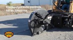 Coneqtec's Heavy-duty micro-trencher skid-steer attachment for asphalt and concrete
