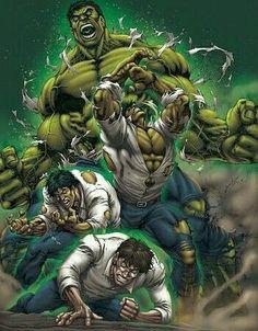 Bruce Banner/The Hulk (by David-Ocampo Hulk Marvel, Hulk Comic, Marvel Comics Art, Marvel Heroes, Avengers, Hulk Hulk, Hulk Tattoo, Marvel Comic Character, Marvel Characters