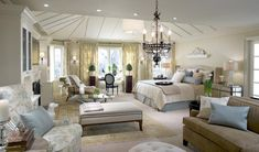 Beautiful Master #bedroom retreat, love the area #rug on top of the #carpet