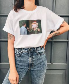 Aesthetic T Shirts, Aesthetic Clothes, Outfits For Teens, Summer Outfits, Streetwear, Cute Comfy Outfits, Friend Outfits, Personalized T Shirts, Casual Elegance