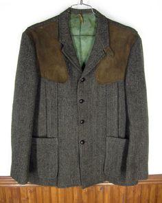 Vintage Eddie Bauer Harris Tweed shooting jacket.