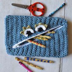 Free Crochet Monster Pouch Pattern