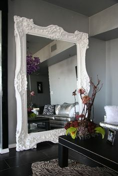 leaning mirror rococo modern living room_littleNudge