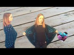 Châle couronnes crochet facile / Crowns shawl crochet (english subtitles) - YouTube