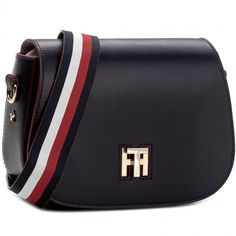 455192744687a6 Torebka TOMMY HILFIGER - Th Twist Saddle Bag Leather Corperate AW0AW04543  413