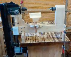 Homemade Lathe using old drill press