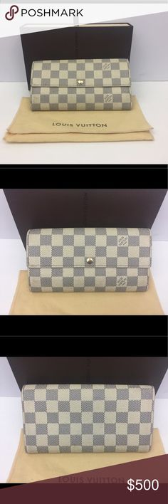 Authentic Louis Vuitton Sarah Damier Azur wallet Guaranteed Authentic Louis Vuitton Sarah Damier Azur wallet Louis Vuitton Bags Wallets