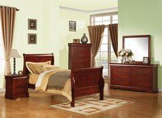 ACME Louis Philippe III Full Bed Cherry - 19528F