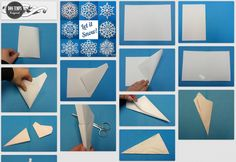 paper snow flake patterns & tutorial [wzory platkow sniegu] White Christmas, Christmas Crafts, Christmas Decorations, Xmas, Arts And Crafts, Paper Crafts, Diy Crafts, Train Crafts, Paper Snowflakes