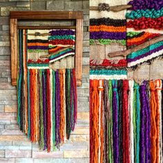 Shop for tissage mural on Etsy, the place to express your creativity through the buying and selling of handmade and vintage goods. Weaving Art, Weaving Patterns, Loom Weaving, Hand Weaving, Diy Belts, Yarn Wall Hanging, Wall Hangings, Textiles, Mexican Art
