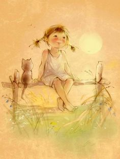 A fun image sharing community. Explore amazing art and photography and share your own visual inspiration! Art Fantaisiste, Art Mignon, Children's Book Illustration, Whimsical Art, Belle Photo, Cute Drawings, Cute Art, Vintage Art, Watercolor Art