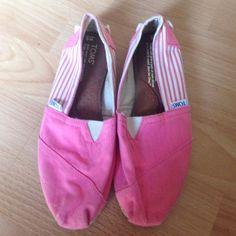 Pink Toms Super cute! TOMS Shoes