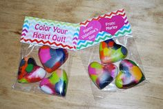 The Moody Fashionista: Recycled Crayon Valentines + Printable