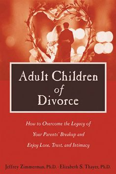 Adult Children of Divorce: How to Overcome the Legacy Of Your Parents` Breakup and Enjoy Love, Trust, and Intimacy Evaluate the level of dysfunction in your parents' divorce and find ways to avoid the long-term conflicts that led to the breakdown of their marriage. Master healthy boundary-setting skills and communication techniques. Let go of guilt, pain, and anger; find out how to forgive your parents. Discover new ways to enrich your own relationships.