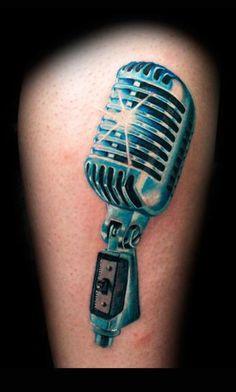 Microphone : beautiful metal effect