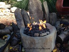 Small Basalt Bowl Fire Pit. Also available as a fire fountain. For more info go to  www.boulderfirepits.com WE SHIP!