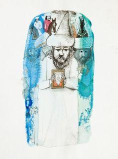 """Józef Wilkoń - """"Baśń o rumaku zaklętym"""", ilustracja do książki Bolesława Leśmiana"""