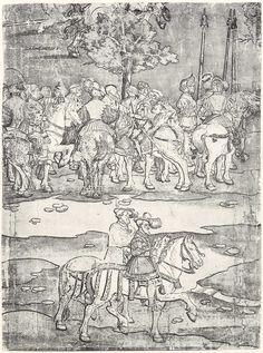 Artist: Breu, Jörg d. Ä., Title: Die Belehnung König Ferdinands mit den österreichischen Erblanden, Detail [16/23], Date: 1530