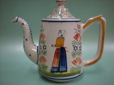 Antique Henriot Quimper France Teapot