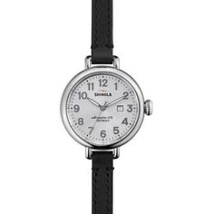 Shinola Birdy 34mm White Dial Double Wrap Watch ($475) ❤ liked on Polyvore featuring jewelry, watches, polish jewelry, double wrap watches, dial watches, stainless steel jewelry and stainless steel watches