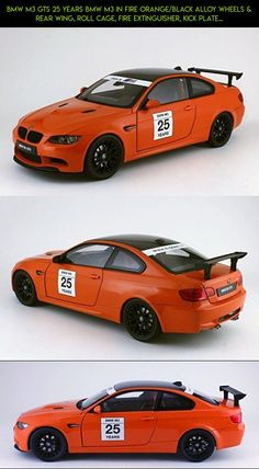 BMW M3 GTS 25 Years BMW M3 in Fire Orange/Black Alloy Wheels & Rear Wing, Roll Cage, Fire Extinguisher, Kick Plate Model Car by Kyosho in 1:18 Scale #gadgets #fpv #racing #parts #camera #wing #drone #tech #technology #kyosho #plans #products #kit #shopping