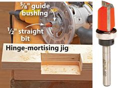 """A jig provides the simplest way to make multiple identical hinge mortises. To begin, make a mortising jig from scrap stock to match your router setup (guide bushing or pattern bit). We used a 1⁄2""""-diameter straight bit with a 5⁄8"""" guide bushing, so our jig cutout measured 1⁄16"""" greater than the hinge leaf on all three sides to account for the offset between the bit and bushing, as shown <i>far left</i>. If you're using a bearing-guided pattern bit—where the bearing is the same diameter as…"""