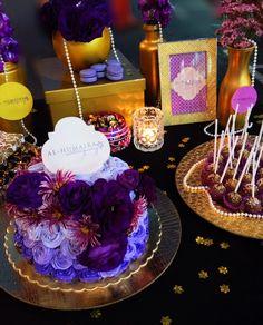 gold and purple themed #dessert #cake #cakepops #wedding