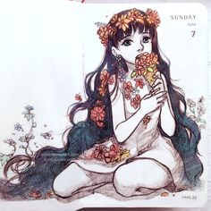 Flowered ice-cream by Qinni.deviantart.com on @DeviantArt