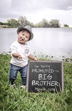 Big brother / new baby / second baby announcement.