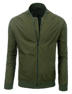 Sizes may run small; please choose a size up. This lightweight windbreaker fully lined zip up bomber jacket will not only keep you dry, but stylish as well. This jacket offers a slim fit, sleek look t