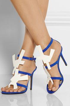 119cbdab2ef Acne Studios - Dalia suede and patent-leather sandals