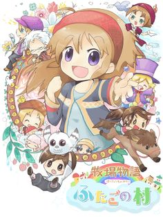 Harvest Moon Tale of Two Towns chibified. ME WUV THIS GAME